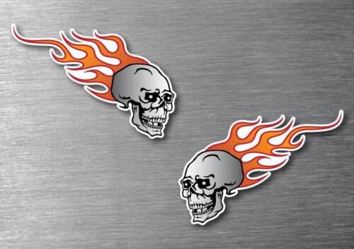 Skull /& Flame stickers  water /& fade proof 7 year vinyl  car motorbike tribal