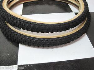 2-BLACK-SKIN-WALL-20-x-1-75-034-CHENG-SHIN-Old-School-BMX-GT-Bike-MX-Bicycle-TIRES