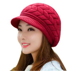 1737dd68428 Women s girls knit winter beanies hats skullies caps wool warm hat ...
