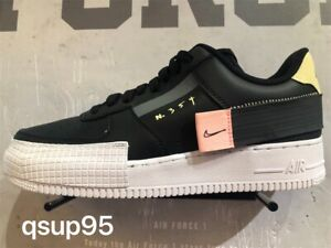 Details about Nike AF1 Air Force One 1 Low Type CI0054 001 Black Mens Kids Womens Size 4Y 13