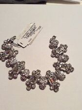 $125 Givenchy Crystal Drama Line Bracelet Silver Tone #802A