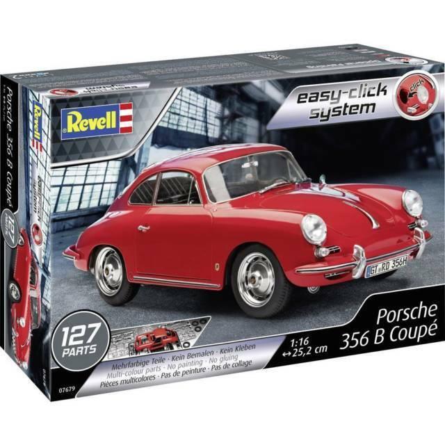 Easy Click System Revell 07679-1//16 Porsche 356 B Coupe Neu