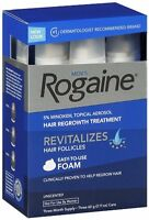 Rogaine Men Hair Regrowth Treatment, 5% Minoxidil Topical Aerosol, 3 Month Foam