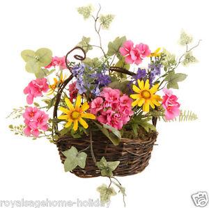 3506108 raz 12 geranium poppy basket spring flower arrangement image is loading 3506108 raz 12 034 geranium poppy basket spring mightylinksfo