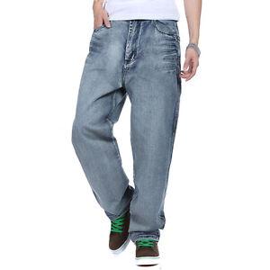 NEW-Plus-Size-Men-039-s-Jeans-Baggy-Casual-Hip-Hop-Pants-Denim-Trouser-Simple-W30-46