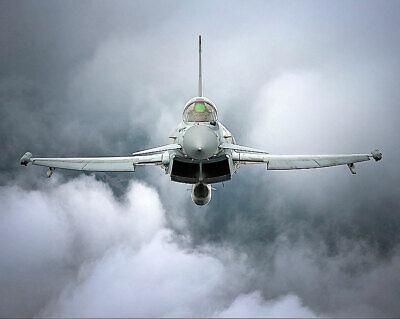 Efficient Raf Typhoon Fgr4 En Vol Avant Vue 11x14 Argent Halogénures Affiche Long Performance Life Other Militaria