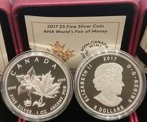 2017 ANA Denver State Flower Columbine 1OZ PureSilver Coin Canada WorldMoneyFair