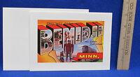 Paul Bunyan & Babe Blank Greeting Card Vintage Bemidji Mn Postcard Design