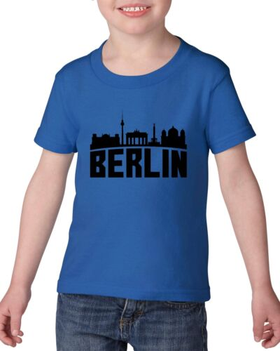 Berlin Germany  Heavy Cotton Toddler Kids T-Shirt Tee