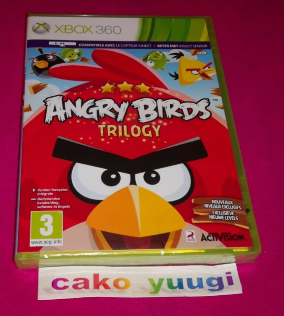 ANGRY BIRDS TRILOGY XBOX 360 NEUF SOUS BLISTER VERSION FRANCAISE