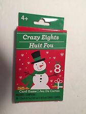 "NEW Greenbrier Christmas Card Games 36 3"" cards 4+ NEW Snowman Crazy Eights"