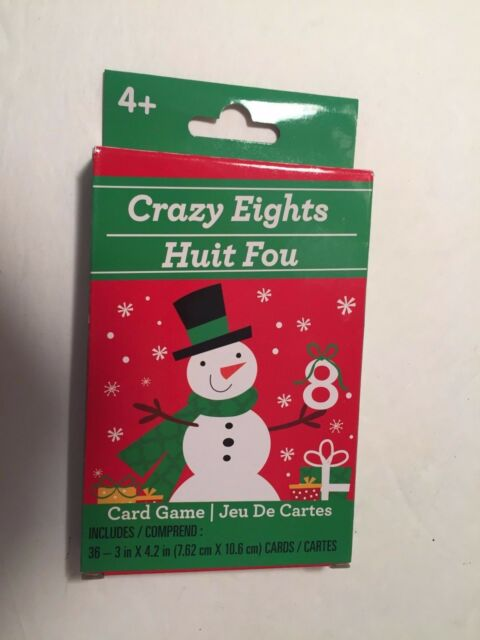 new greenbrier christmas card games 36 3 cards 4 new snowman crazy eights - Christmas Card Games