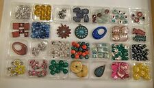 Jewelry Making Loose BEADS Large Lot Craft Foil Glass Stone MOP Metal Findings