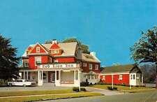 Hackensack New Jersey Red Lion Inn Street View Vintage Postcard K52056