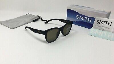 Smith Caper Sunglasses Matte Black with ChromaPop Polarized Gray Green Lens
