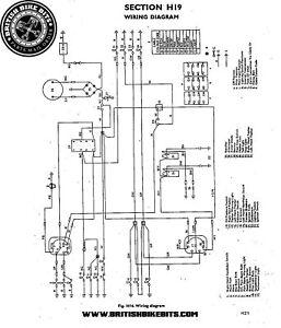 Cloth Wiring Harness Loom Triumph T100 1971 74 Ebay
