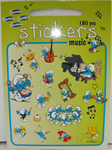 180-Smurfs-Music-Stickers-by-Barbo-Toys-The-Smurfs-Piano-Trumpet-Drums-Singing