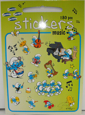 180 Smurfs Music Stickers by Barbo Toys The Smurfs Piano Trumpet Drums Singing