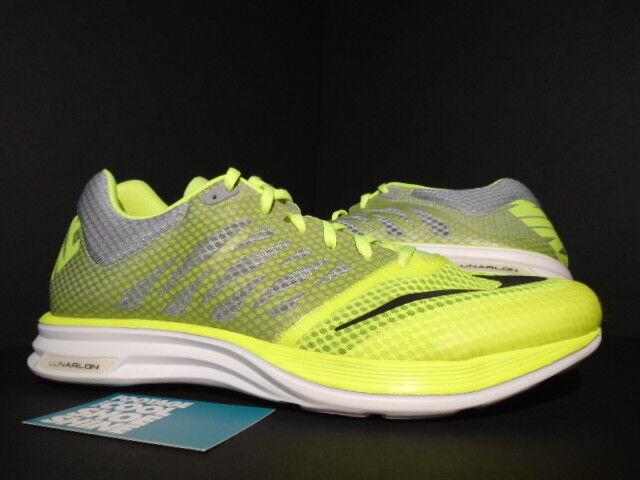 2013 Nike LUNARSPEED+ VOLT NEON YELLOW 554682-710 WHITE WOLF GREY BLACK 554682-710 YELLOW 10.5 77653c