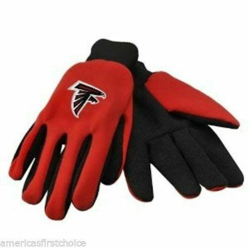 Atlanta Falcons Red and Black Team Logo Licensed NFL Sport Utility Gloves-New!