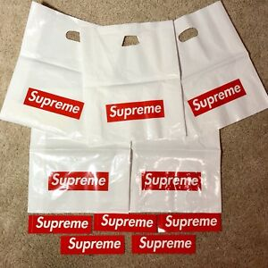 EXCLUSIVE-OFFER-x5-Supreme-Plastic-Shopping-Bag-AND-x5-Supreme-Stickers