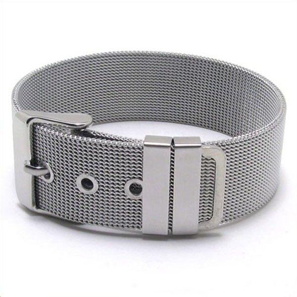 Mens Stainless Steel Bracelet Fashion Silver Charm Unique Bangle Chain