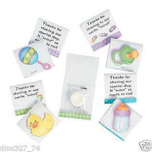 details about 24 baby shower party favors candy matchbook mints unisex