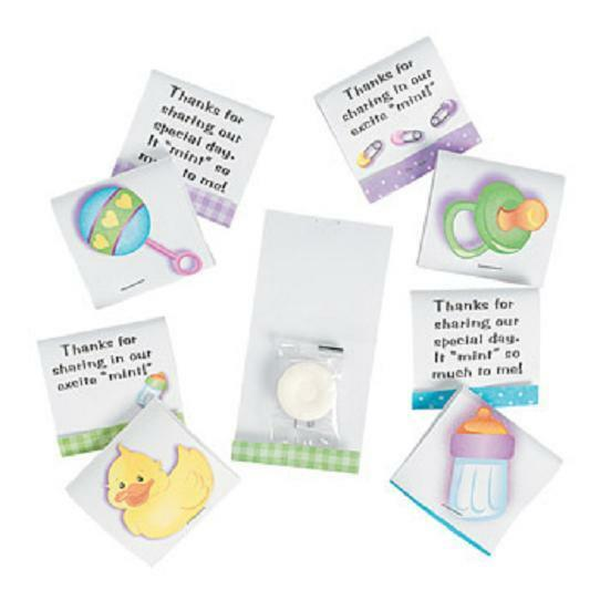 24 Baby Shower Party Favors Candy MATCHBOOK MINTS Unisex Suitable for Boy Girl