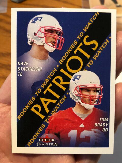 2000 Fleer Football #352 Tom Brady Rookie Card