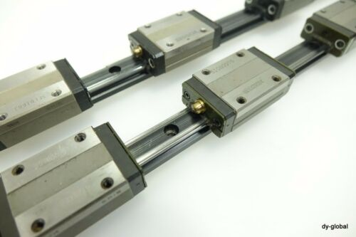 THK Used SR15W3UU+1358L 2Rail 6Block Raydent Discolored linear Bearing LM Guide