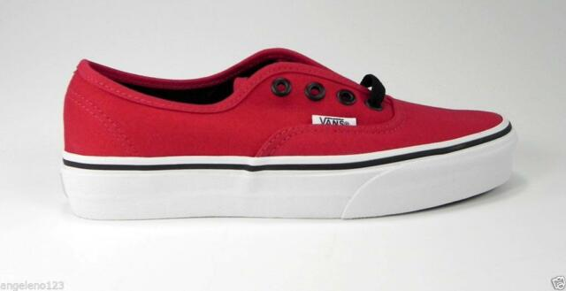 424f88c4d79a VANS Authentic Chili Pepper Red Shoes Men Women Canvas Medium Width Sneakers