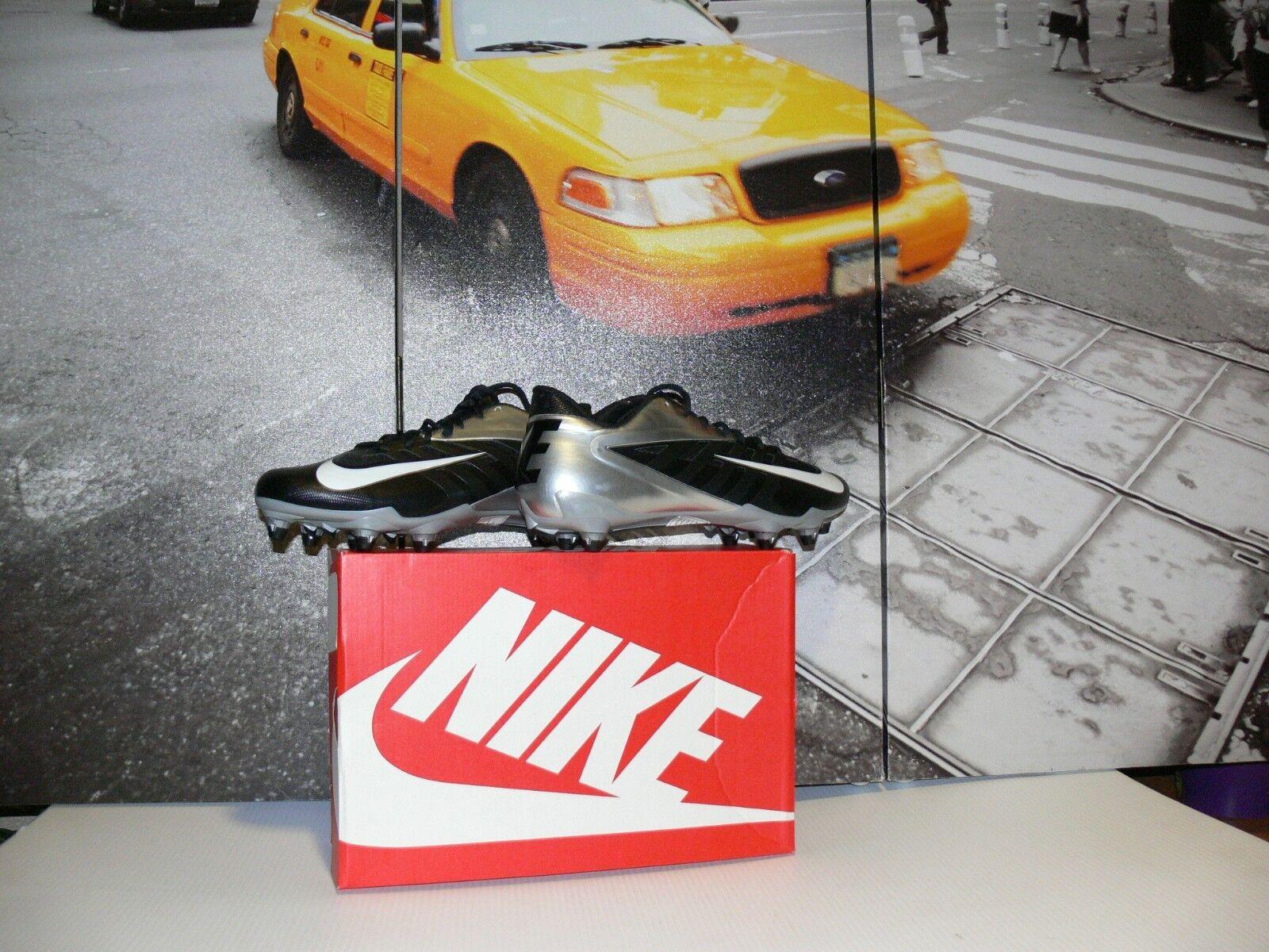 Nike Vapor Pro Low D Football Cleats Black Metallic Silver detachable US 11.5