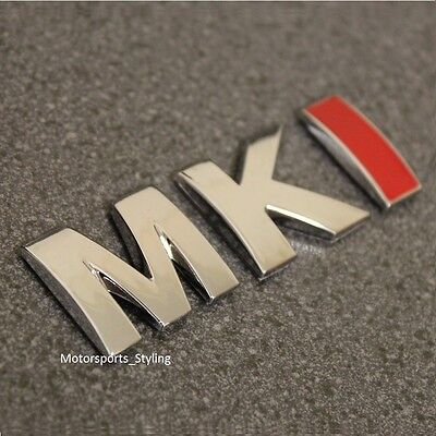 MKI Chrome Red Car Rear Boot Trunk Emblem Badge Decal Sticker MK1 Mark 1 VW *