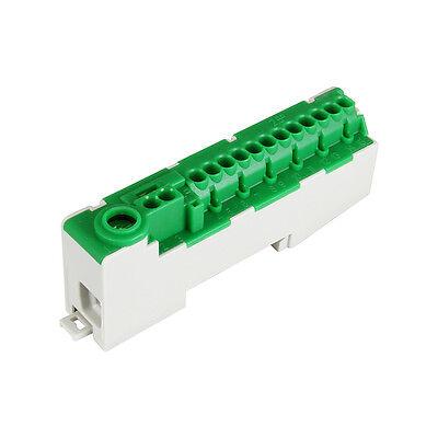 Pollmann steckbare Schutzleiterklemme für Tragschienen PE14-S grün