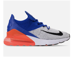 New NIKE AIR MAX 270 FLYKNIT AO1023-101 White/Black/ Blue/Total Crimson Pink c1