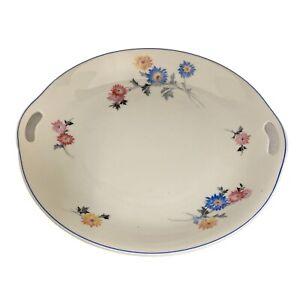 """Vtg Swisse Langenthal Floral Pattern Serving Platter 10 7/8"""" Diameter"""