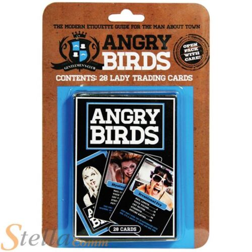 Angry Birds Card Game Novelty Nightmare Girlfriend Stats Top Trump Style Game