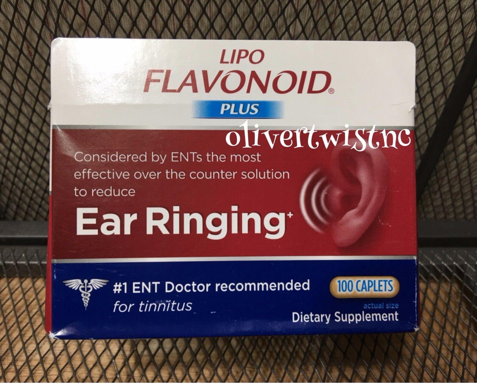 Lipo-Flavonoid Plus 100 Caplets Inner Ear Ringing Health JANUARY 2023  #1001