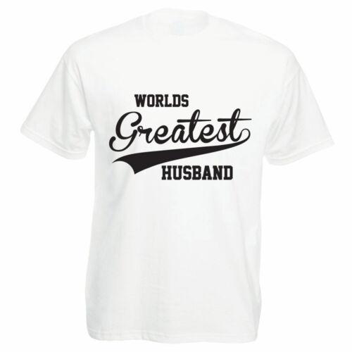 WORLDS GREATEST HUSBAND Family Funny Themed Men/'s T-Shirt Spouse Partner