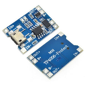 10X-1A-5V-TP4056-Lithium-Battery-Charging-Modul-USB-Board-Electronic-Comp-Ullm