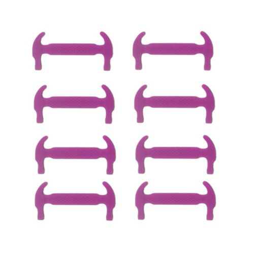 Hot 12 Pcs No Tie Shoelaces Creative Elastic Silicone Flat Shoe Lace Easy Useful
