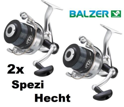 2x Balzer Spezi 100 Hechtrolle mit Hechtschnur fertig bespult Paarpreis Set
