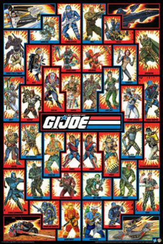 24x36 COLLAGE CAST 241268 GI JOE CHARACTERS POSTER