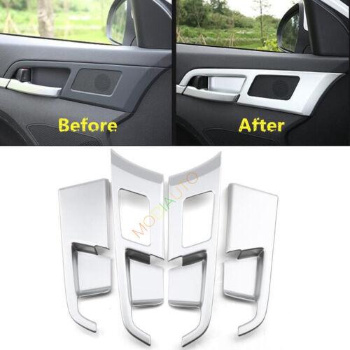 For HYUNDAI Elantra 2017 ABS Matt Chrome Inner Door Handle Cover Trim 4pcs