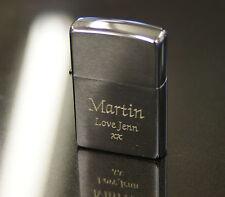 Personalised Engraved Brushed Chrome Zippo Lighter Men's Christmas Gift