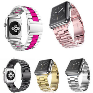 For-Apple-Watch-Series-3-4-iWatch-38-42mm-Stainless-Steel-Strap-Watch-Band-Clasp