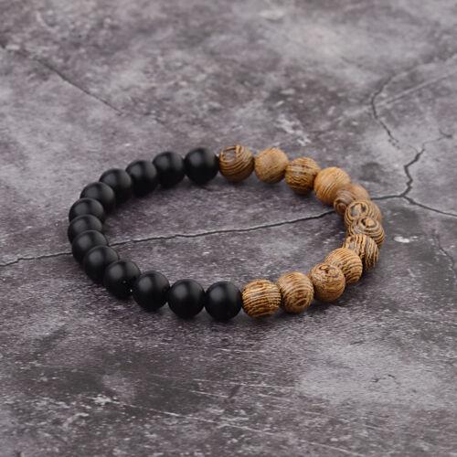 Pierre naturelle d/'énergie Yoga Reiki 7 Chakra Handmade Hommes Fashion Charm Bracelets