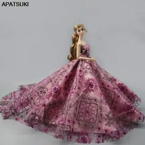 1pcs-Wedding-Dress-Evening-Vestidoes-Party-Gown-Outfits-Clothes-for-Barbie-Dolls
