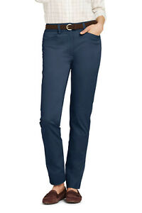 Lands-039-End-NWT-Women-039-s-Mid-Rise-Chino-Straight-Leg-Pants-Marine-Navy-MSRP-59-95