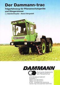 Orig Prospekt 80/90er Jahre Weniger Teuer Genossenschaft Dammann-trac